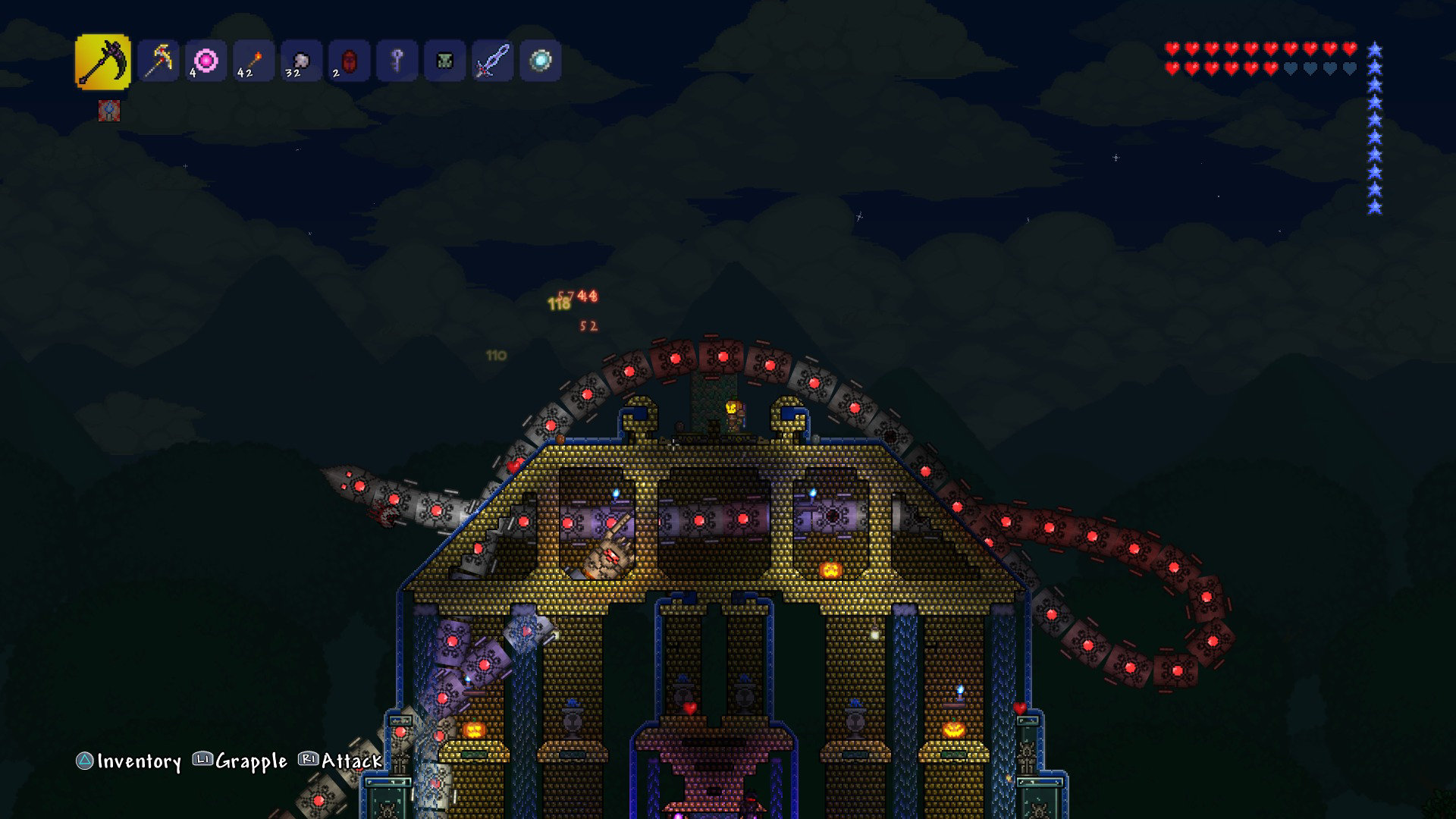 how to hold click terraria