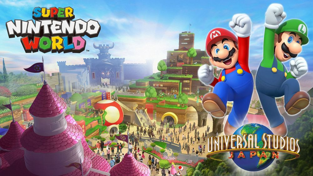 Nintendo mostra i concept dei loro parchi a tema Mario