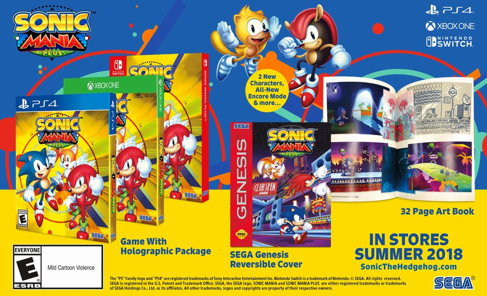 Sonic Mania Plus: annunciata la nuova versione del gioco