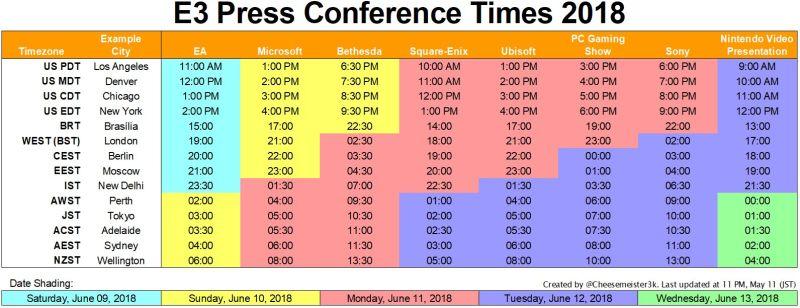 E3 Calendario.Dove Seguire Le Conferenze E3 2018 Gamerclick