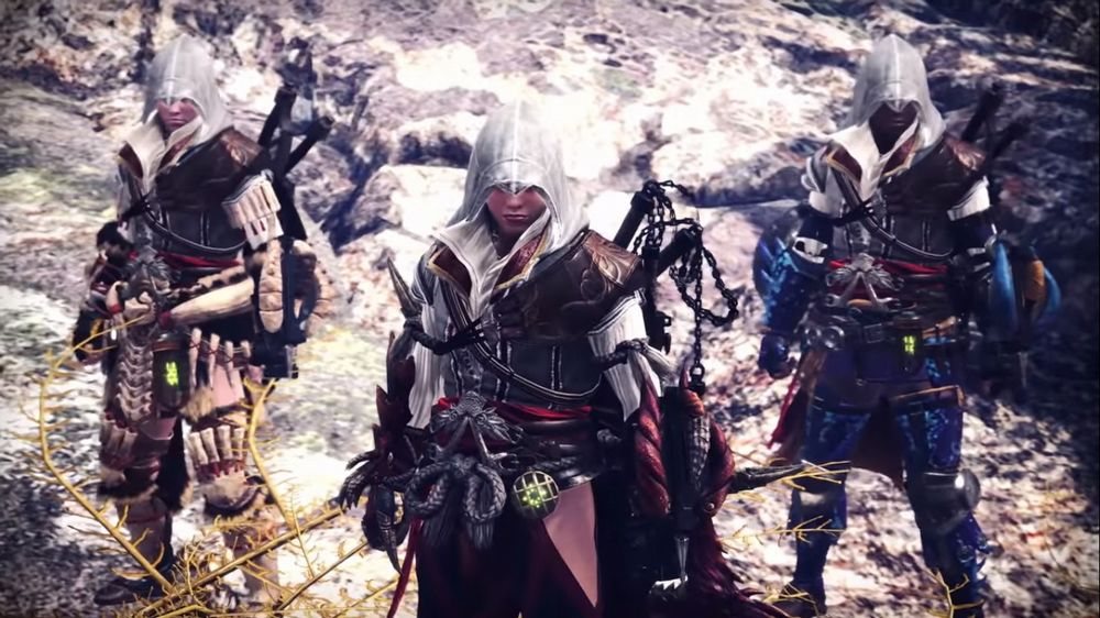 Disponibile in Monster Hunter World la missione a tema Assassin's Creed.jpg