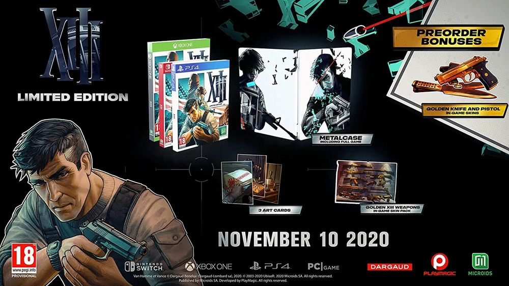 XIII in arrivo su ps4 xone pc e switch