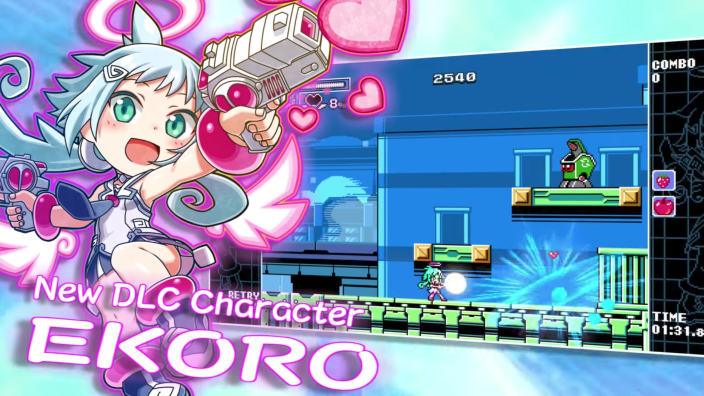 Mighty Gunvolt Burst - Ekoro entra in combattimento