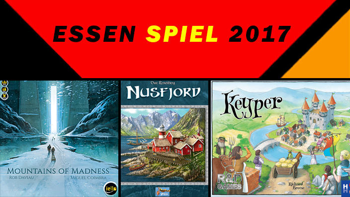 Essen 2017: anteprima di Nusfjord, Keyper e Mountains of Madness