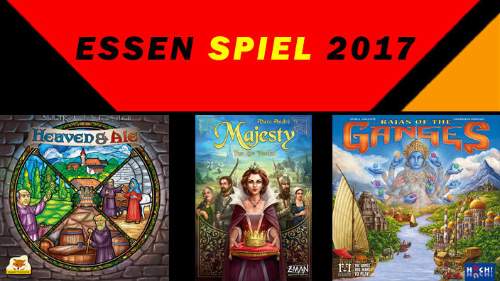 Essen 2017: anteprima di Majesty: For the Realm, Heaven & Ale e Rajas of the Ganges