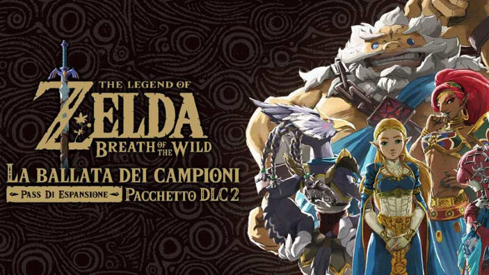 La Ballata dei Campioni, ultimo DLC di The Legend of Zelda: Breath of the Wild, è disponibile da oggi