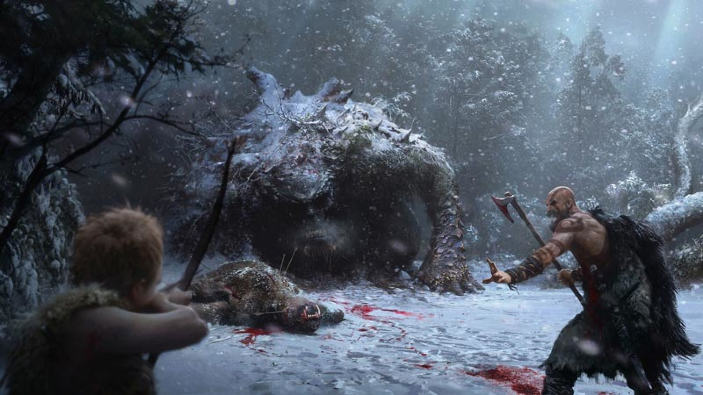 God of War, troll ed esplorazione in un nuovo video di gameplay