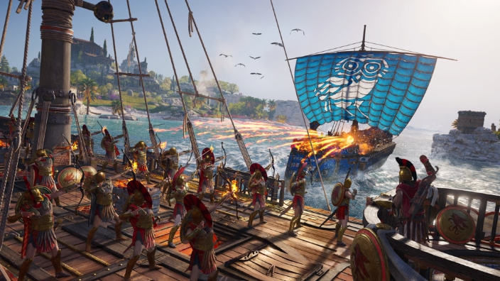Assassin's Creed Odyssey spettacolari battaglie navali in 4k
