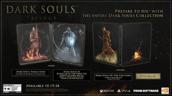 Annunciata la Dark Souls Trilogy per Playstation 4 e Xbox One