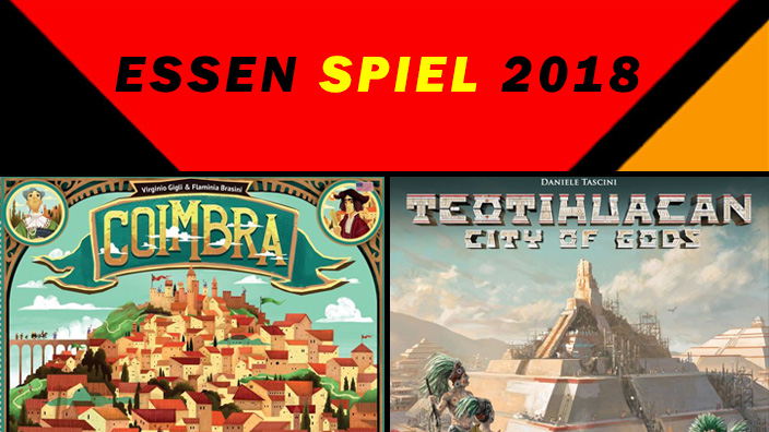 Essen 2018: anteprima di Coimbra e Teotihuacan: City of Gods