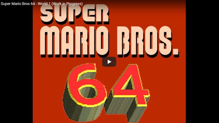 Ecco Super Mario Bros 64 la fusione di due epoche