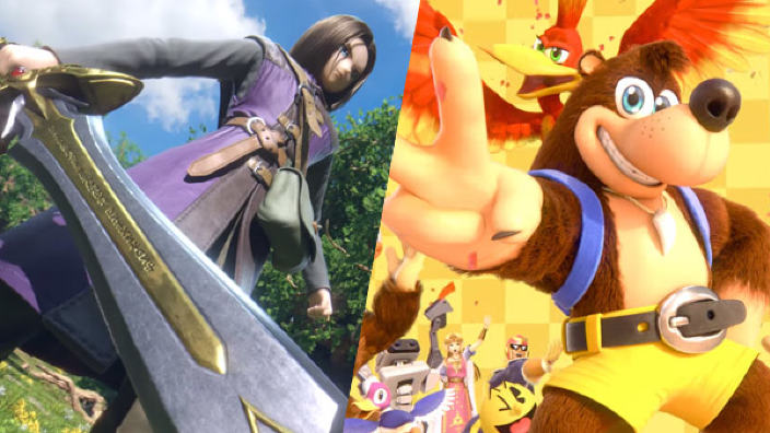 Super Smash Bros Ultimate aggiunge Banjo&Kazooie e Dragon Quest XI