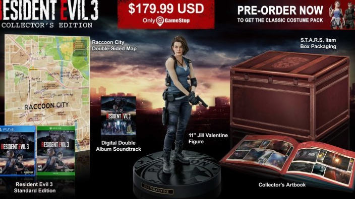 Resident Evil 3 Remake ecco la Collector's Edition
