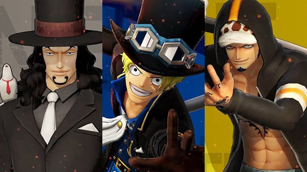 One Piece Pirate Warriors 4 presenta Lucci, Sabo e Trafalgar Law
