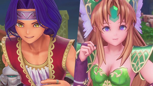 Trials of Mana presenta Hawkeye e Riesz in trailer