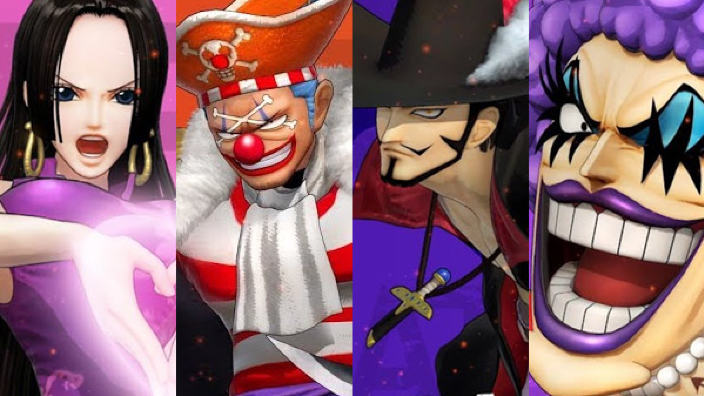 One Piece Pirate Warriors 4 presenta Boa Buggy Mihawk e Emporio Ivankov