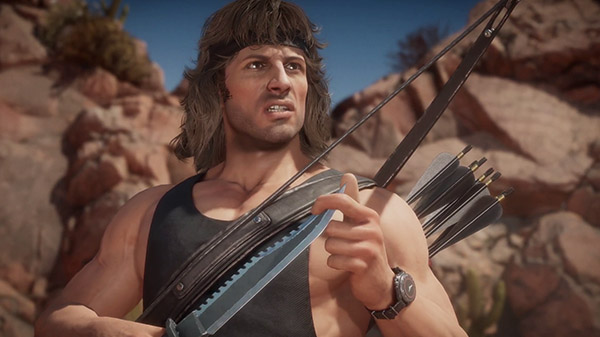 Mortal Kombat 11 mostra il gameplay di Rambo in trailer
