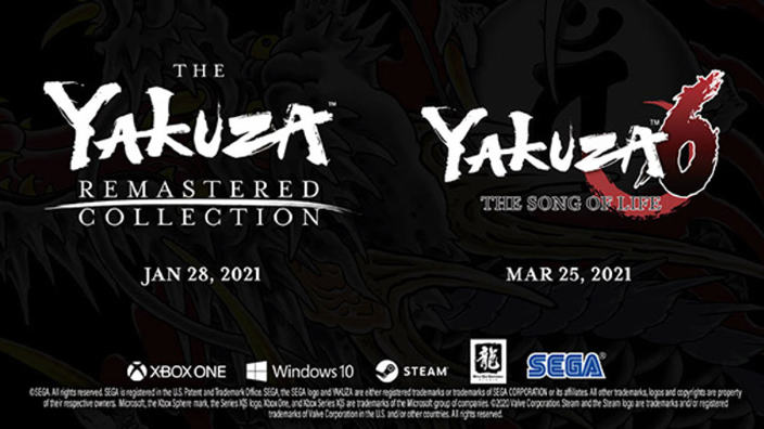 Yakuza Remastered Collection e Yakuza 6 arrivano su Xbox e PC