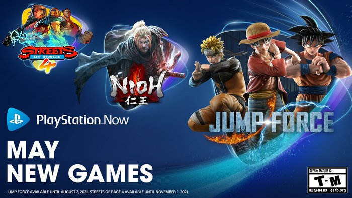 Playstation Now si aggiorna con Nioh, Jump Force e Streets of Rage 4